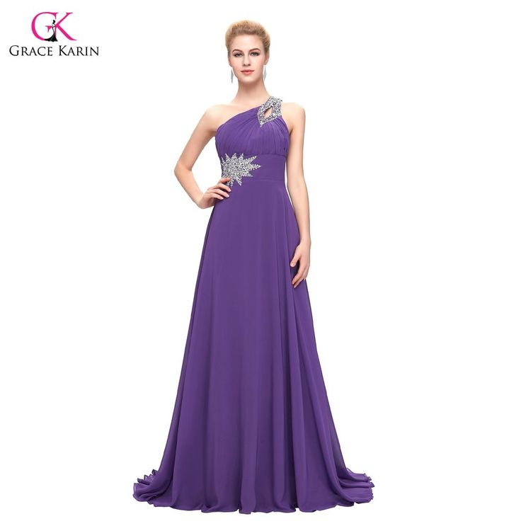 Women Elegant cheap Long Evening Dresses One Shoulder Formal $63.51   => Save up to 60% and Free Shipping => Order Now! #fashion #woman #shop #diy  http://www.weddress.net/product/women-elegant-cheap-long-evening-dresses-2016-grace-karin-one-shoulder-formal-evening-gowns-chiffon-purple-red-abendkleider-2949