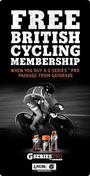 Free British Cycling Membership with Gatorade packs