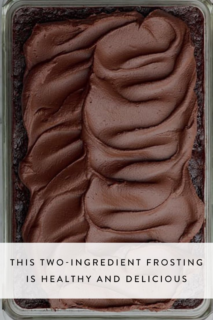This 2-Ingredient Frosting Is Healthy and Delicious via @PureWow