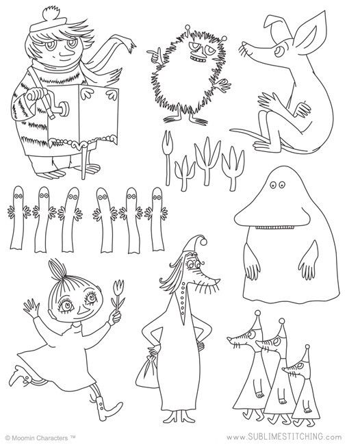 MOOMIN / Moomin Friends - Embroidery Patterns