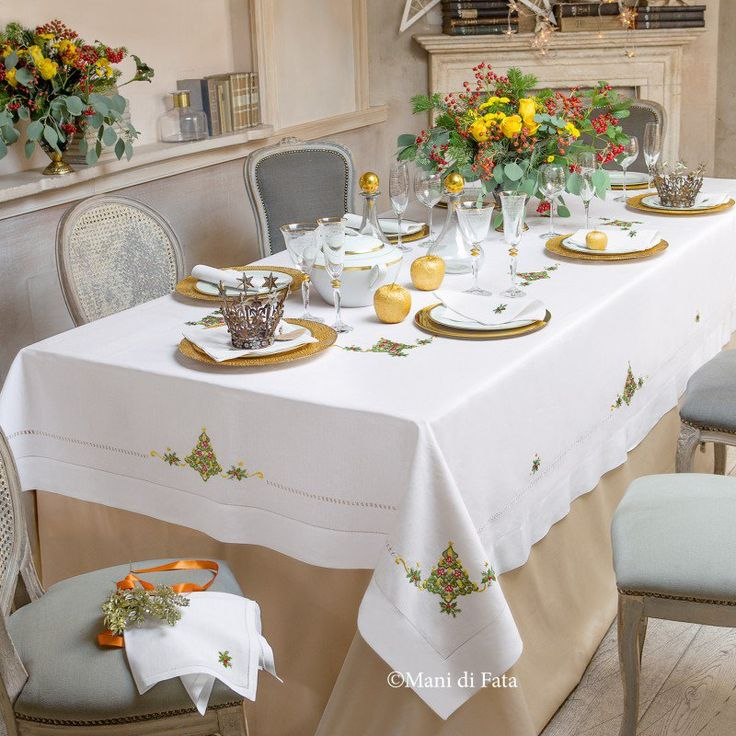 Oltre 25 fantastiche idee su tovaglia di lino su pinterest - Tovaglie da tavola di natale ...