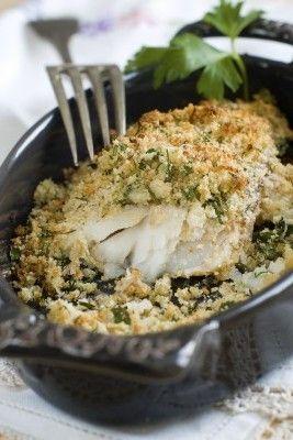 Pesce in crosta di erbe
