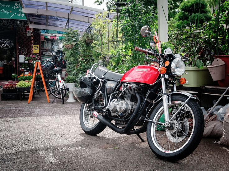 red honda cb400f not a 550 but otherwise nearly perfect - Red Cafe Ideas