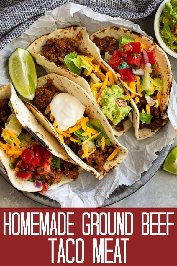 Homemade Ground Beef Taco Seasoning Recipe For One Serving Nothing Extra To Store Ground Beef Tacos Beef Taco Seasoning Tacos Beef