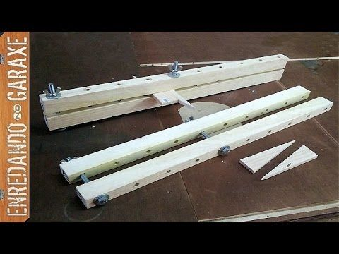 Como hacer sargentos de madera. How to make wooden bar clamps. - YouTube