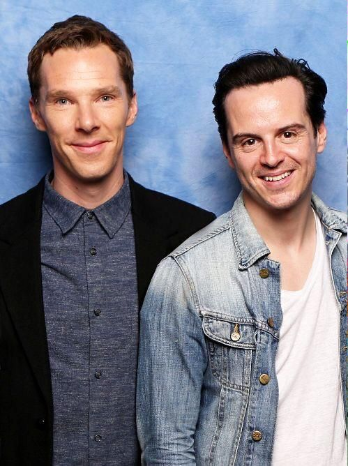 Benedict Cumberbatch (Sherlock Holmes) and Andrew Scott (James Moriarty) of SHERLOCK (BBC).