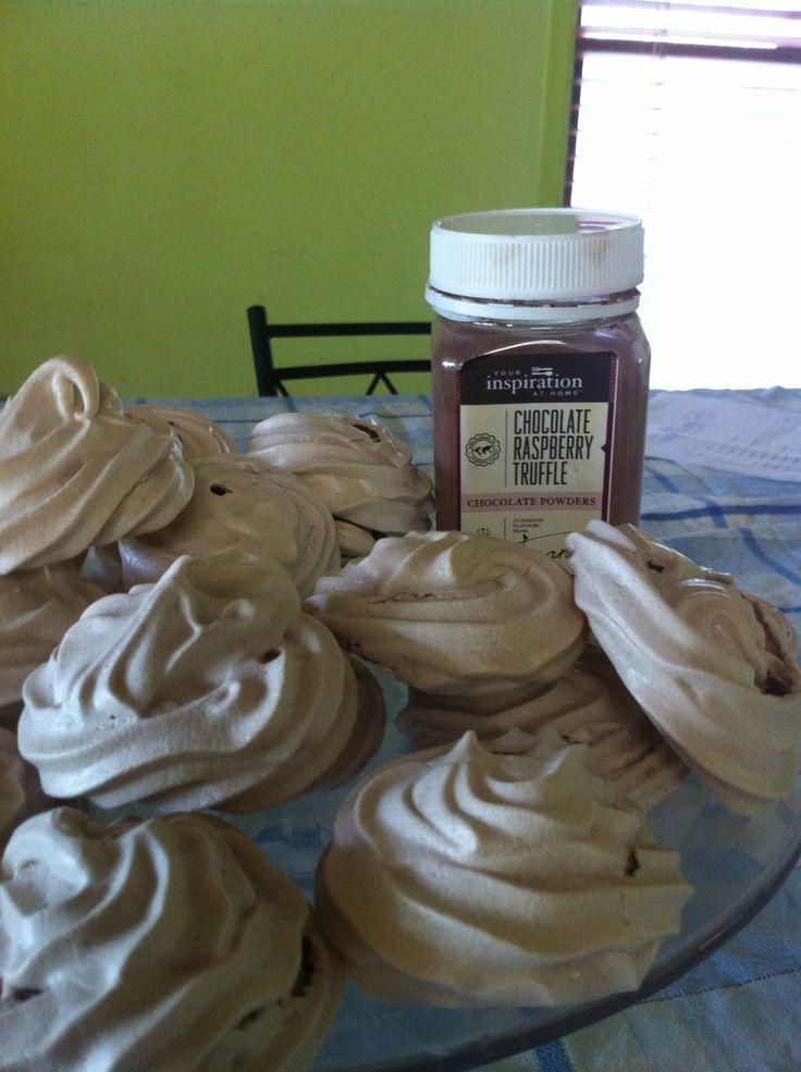 Chocolate Raspberry Truffle Meringues