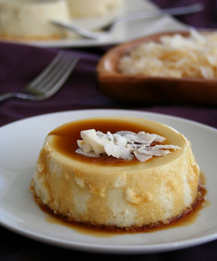 Coconut Flan - low carb and gluten free (I don't necessarily care if it's low-carb, so long as it's SUGAR FREE! I would even substitute a different sweetener for sugar)