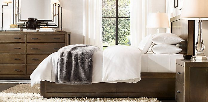Bedroom Sets Restoration Hardware la salle metal-wrapped collection - aged brass | rh | bedroom sets