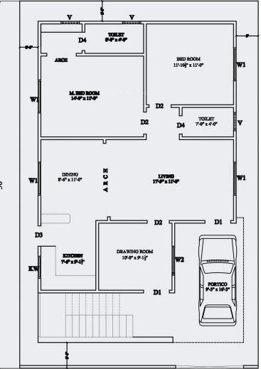 Mi plano | House layout plans, 30x40 house plans