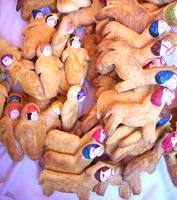 Tantawawas (Bread Babies) made in Bolivia on Día de los Muertos (Day of the Dead)