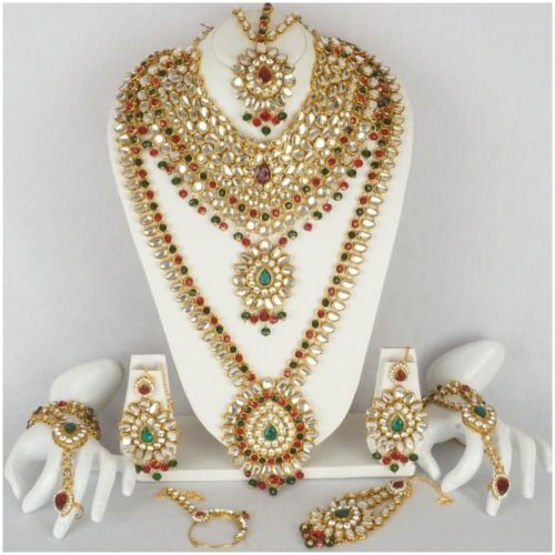 Indian-Bollywood-Style-Fashion-Gold-Plated-Bridal-Jewelry-Diamante-Necklace-Set