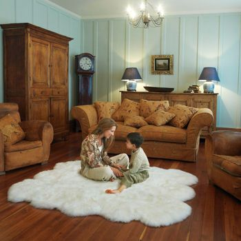 Auskin 100% Natural Lambskin Rug Collection 5x6 $269