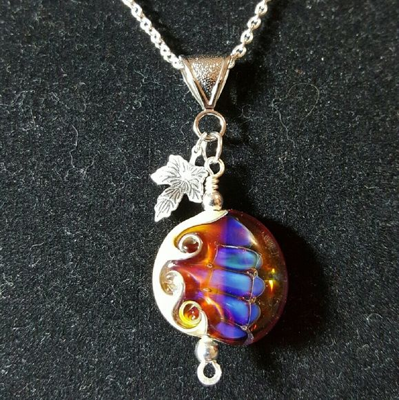 necklace lampwork beadshand