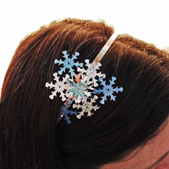 Snowflake Frozen Headband  Snow Queen Hair by embellishingyou