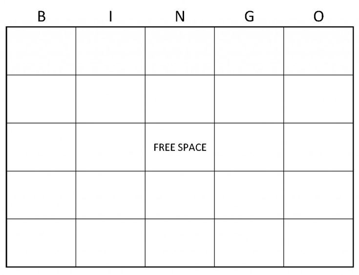 Blank Bingo Cards | Example of Blank Bingo Cards