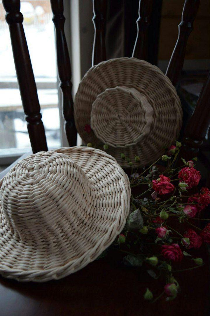 Плетёный сундук. Шляпы декоративные из бумажной лозы. https://vk.com/pletenuy_sunduk?z=photo-102980529_410868928%2Fwall-102980529_223