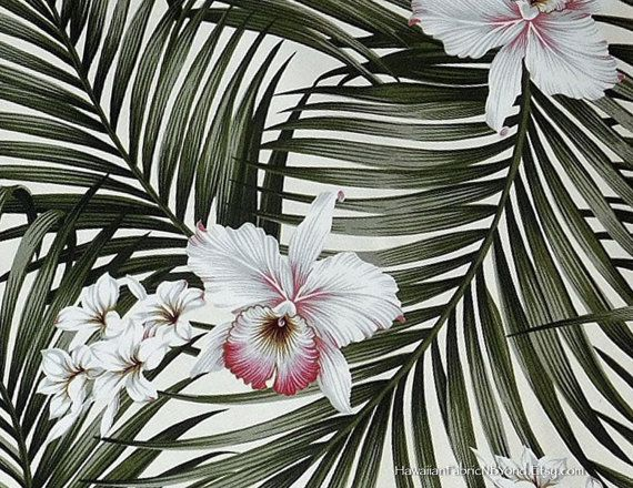 Orchids Upholstery Fabric Tropical Home By Hawaiianfabricnbyond