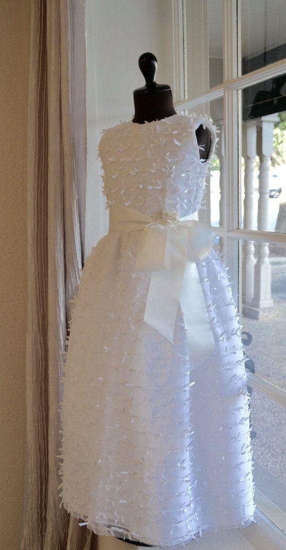 First Communion Dress, Communion Dress ~ Holy Communion Dress ~ Couture Communion Dress ~ Flower Girl Dress ~ Junior Bridesmaid Dress  / couturesbylaura.com