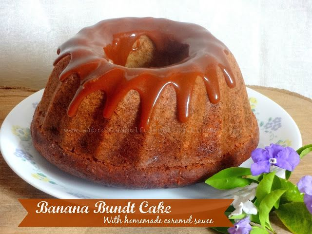 Salvage your overripe bananas and bake this gorgeous cake. Drizzle some home made caramel sauce and enjoy!