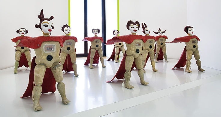 """Angels Face to the Future,"" 2007, by Henri Dono was included in ""Trans-Figurations: Mythologies Indonésiennes"" at Espace Culturel Louis Vuitton in Parris in 2011."