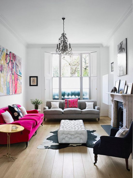 Colourful living room in London.