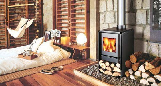 Estufa de le a ideal para una casa de estilo r stico - Estufas para casa ...