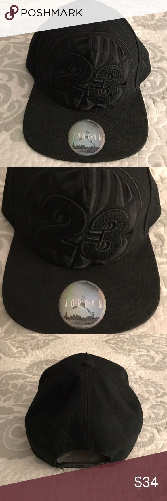 Nike Air Jordan All Star Game Toronto SnapBack cap Nike Air Jordan All Star game Toronto 2016 SnapBack cap in the color-Black , Size-OSFA this hat is a must have for hat & Michael Jordan fans, hat has a lace like black bill will Jordan's number 24 raised for a 3D effect , this hat has been worn but taken care of & from a smoke free home. Nike Jordan  Accessories Hats
