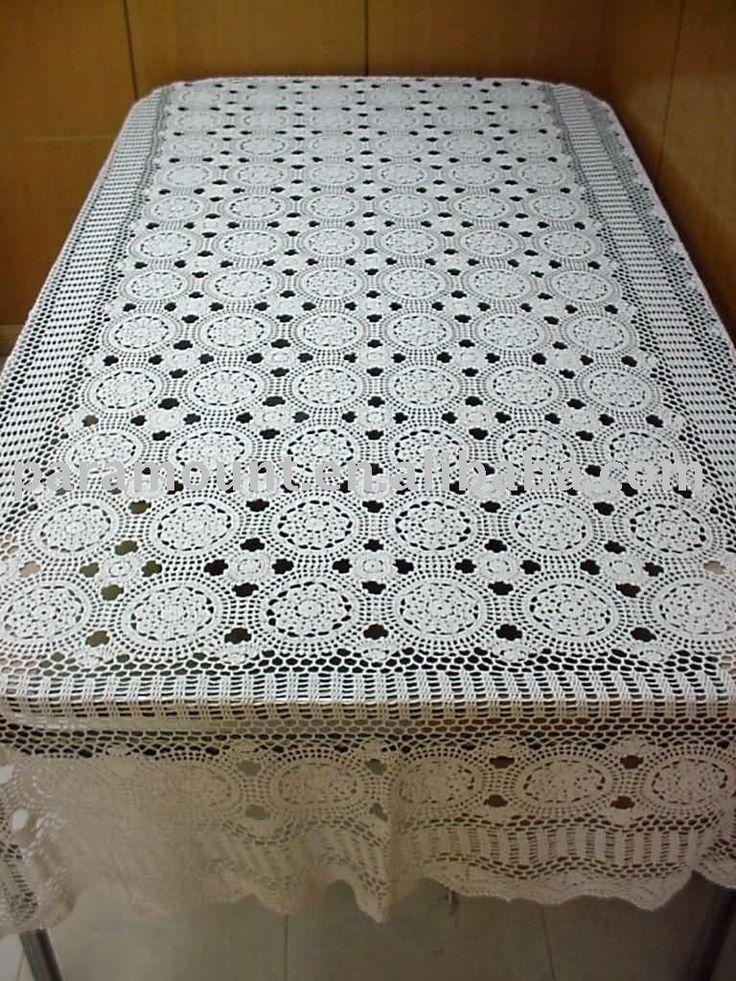 Beginner Crochet Tablecloth Patterns : 12 best images about Crochet Tablecloths on Pinterest ...