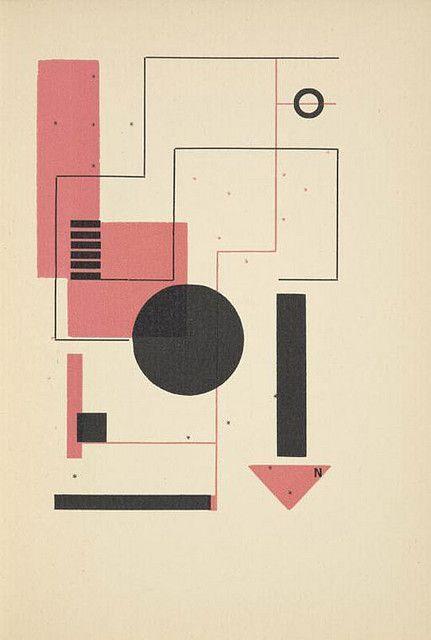 Karel Teige - S Lodi jez dovazi caj a kavu, 1928 geometric shape design poster