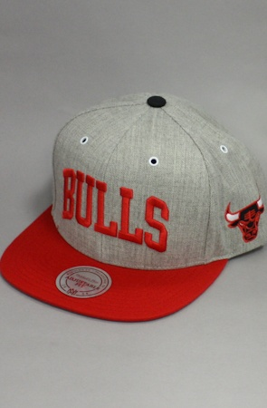 Chicago Bulls Snapback Hat (Gray/Red) by 123SNAPBACKS