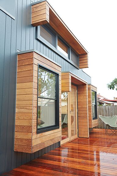 Architect Hewson's project at Preston Victoria using Weathertex 'Weathergroove' painted in Dulux 'Sleepy Charcoal'