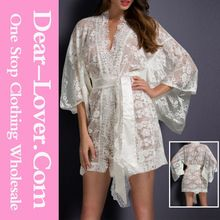 Hot Sale Lady White Belted sexy transparent Lace Kimono nightwear  Best buy follow this link http://shopingayo.space