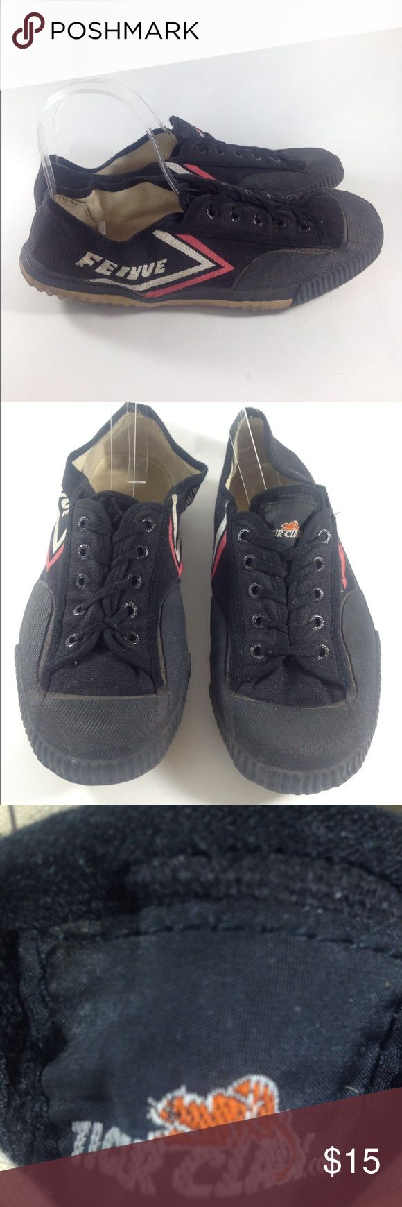 Men's Feivue Tiger Claw Martial Arts Shoes Size 12 Up for sale is this durable pair of Feivue Tiger Claw Martial Arts Shoes!  Men's Size 12 Eur 46   CONDITION: Good Condition! Some signs of wear, right foot is bent out of shape due to storage. Fits fine when worn. Feiyue Shoes Athletic Shoes