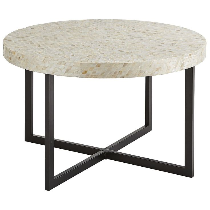 Square Coffee Table Pier1: Mother-of-Pearl Round Coffee Table