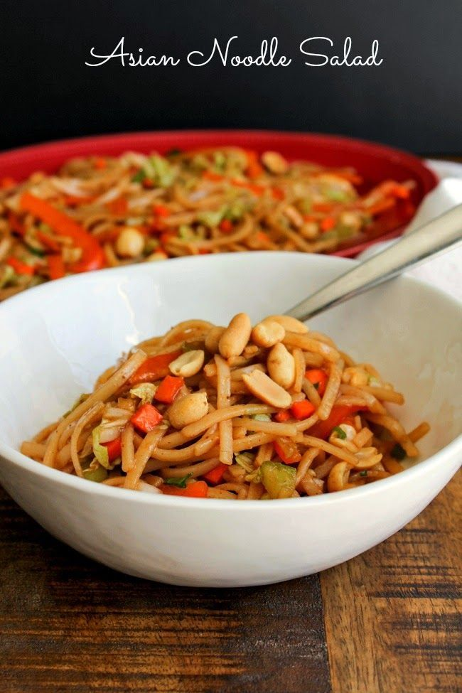 Asian Noodle Salad | The Chef Next Door