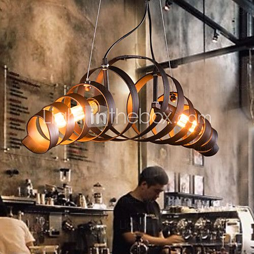 maishang® retro staaf ijzer lamp moderne minimalistische industriële stijl kroonluchter - EUR €130.33