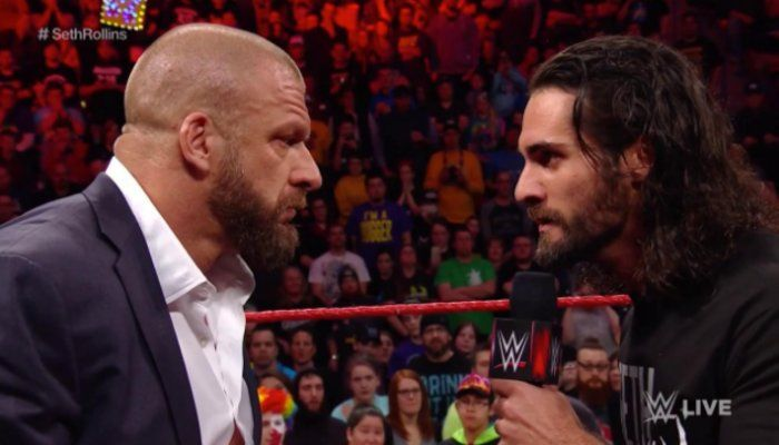 Seth came out in a leg brace while walking on a crutch. Seth Rollins was limping heavily. Rollins didn't look good, but he made his way to the ring.