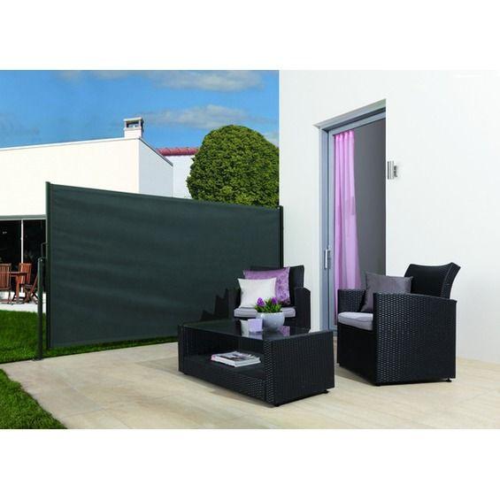 OBI Vertikal-Markise Livingston Anthrazit mit Pfosten 300 cm x 150 cm im OBI Online-Shop