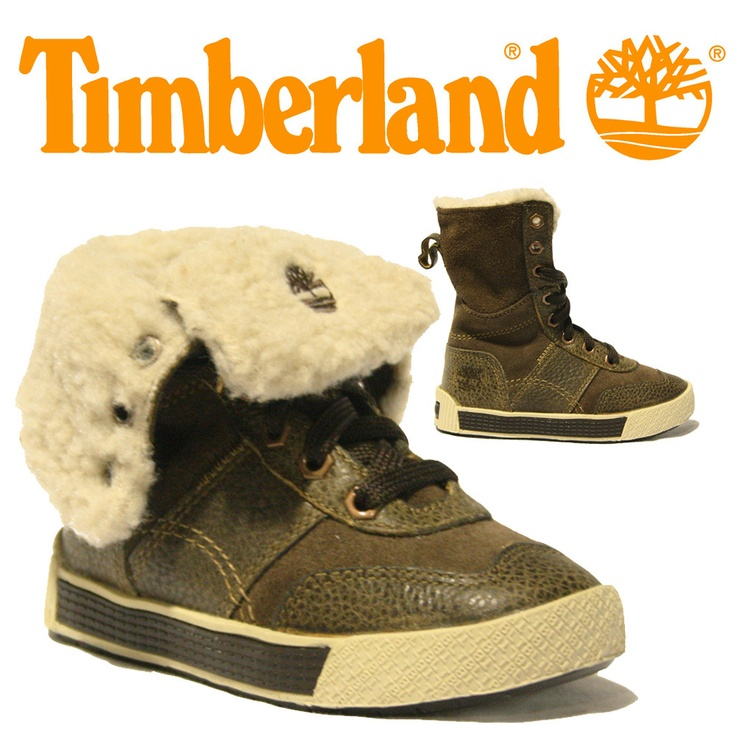 GIRLS TODDLERS TIMBERLAND BOOTS DESIGNER KIDS FUR LINED FOLD OVER LEATHER 29842