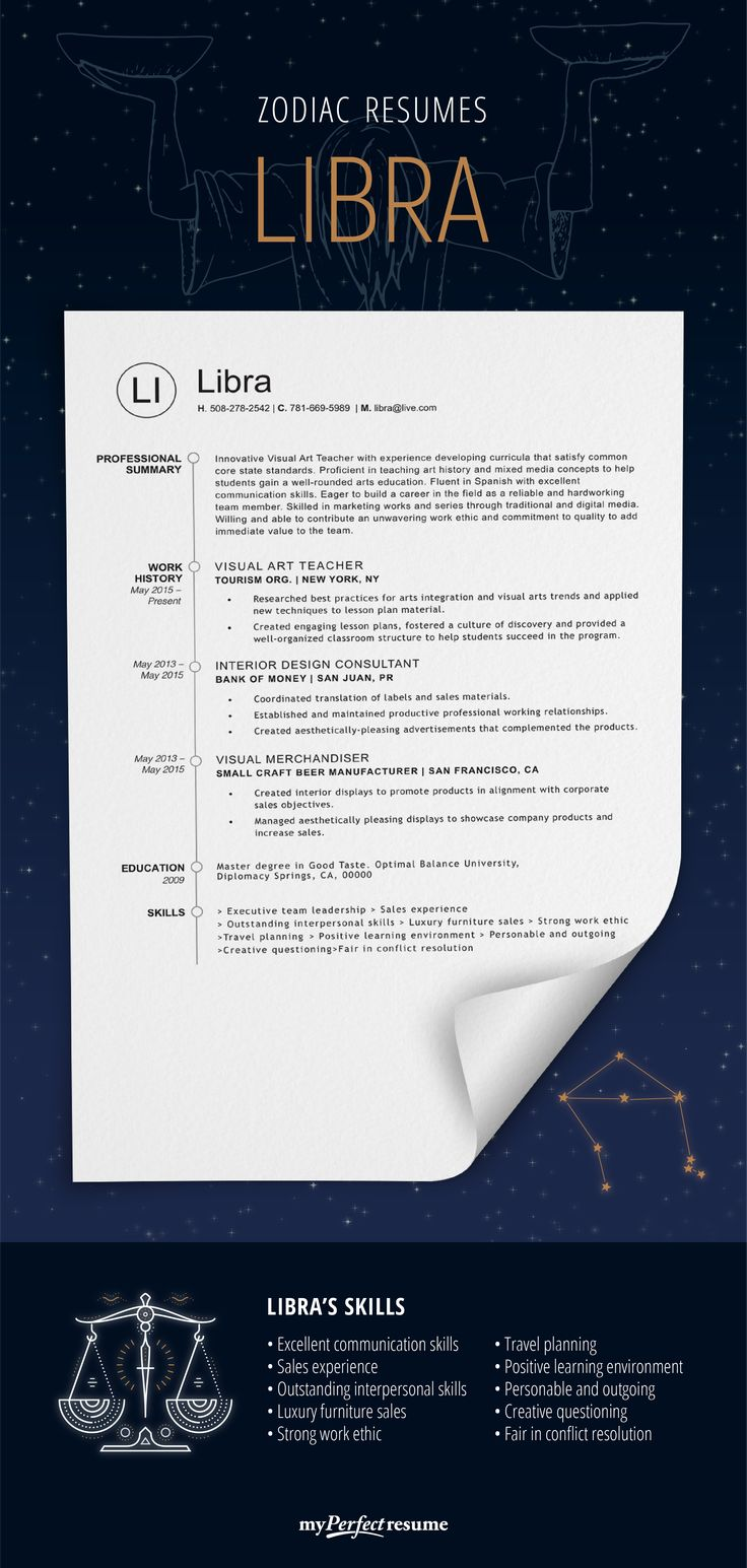 If libra had a resume it would look like this check if