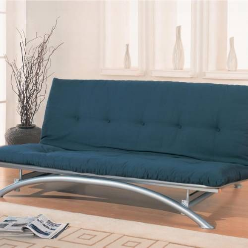 Coaster Furniture 300008 Contemporary Metal Futon Frame In Silver