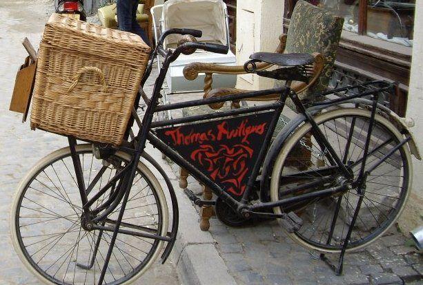 The Thomas Antiques bike in Lipscani, Bucharest