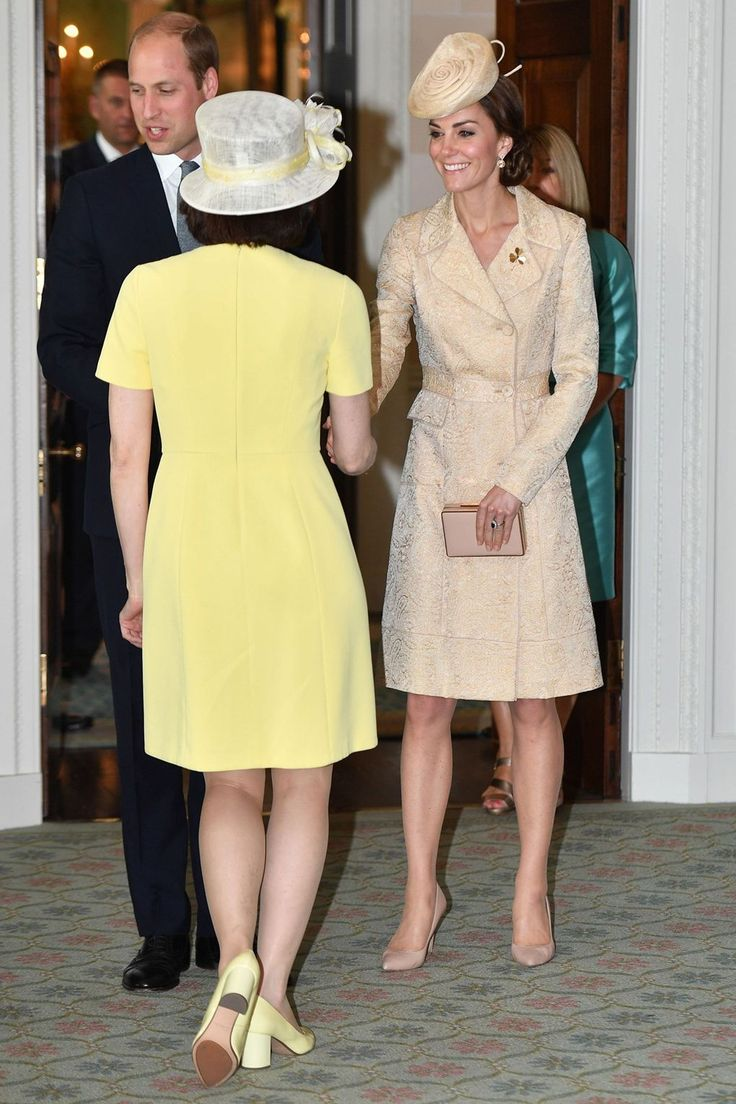 The Duchess attended the annual garden party at the  Royal residence at Hillsborough Castle in Northern Ireland, wearing a coat by DAY Birger et Mikkelsen.
