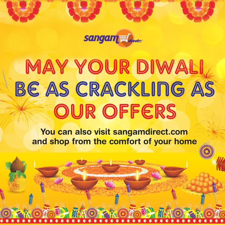 We have a lot of exciting offers lined up for you this #Diwali. Head on to our site & grab them till they last! Buy now: bit.ly/SangamDirect