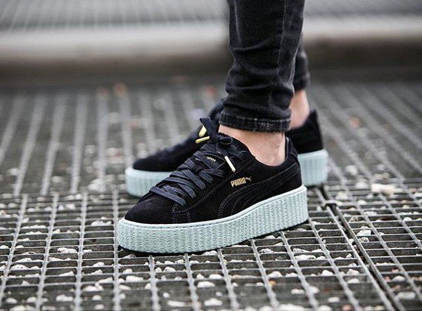 PUMA Women's Shoes - Rihanna x Puma Suede Creepers Cool Blue - Find deals and best selling products for PUMA Shoes for Women