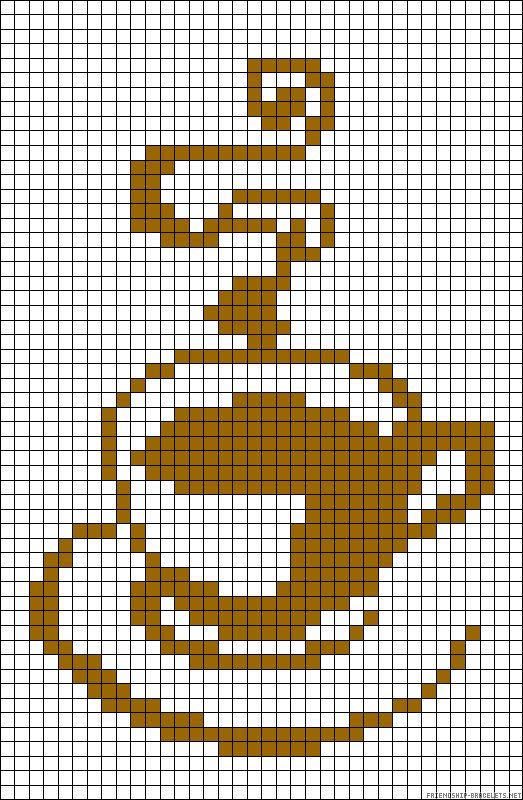 Coffee perler bead pattern
