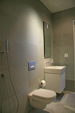 concrete wall panels and batchroom floor modern bathroom tile