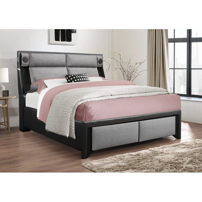 Latitude Run Blocher Upholstered Storage Platform Bed Wayfair