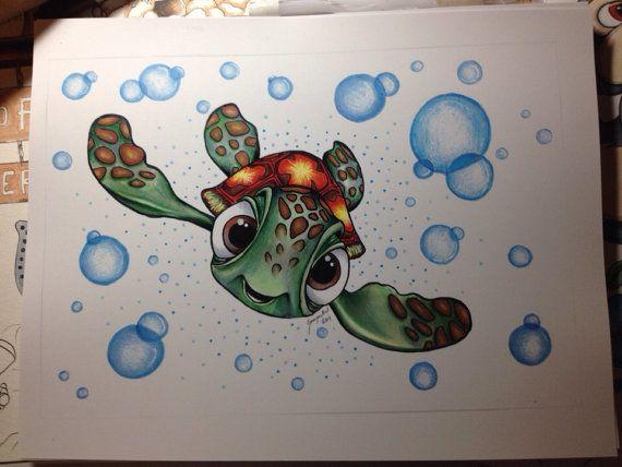 Disneys Finding Nemo dibujo impresión chorro de 7 x 10